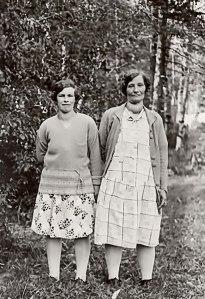 Märta-Lisa och hennes dotter Brita