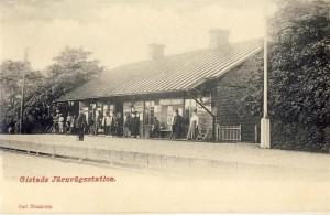 Järnvägsstationen i Gistad