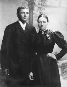 Dottern Emma och hennes man Ludvig.