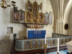 Altartavla i Botkyrka kyrka från 1500-talet