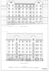 Byggnadslovsritning för Nybrogatan 55