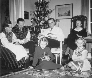 Jul på Grönbo med dotter Gunnel och hennes familj