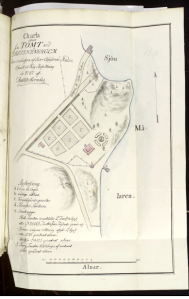 Brandförsäkringskarta Drottningholm Källa: Riksarkivet