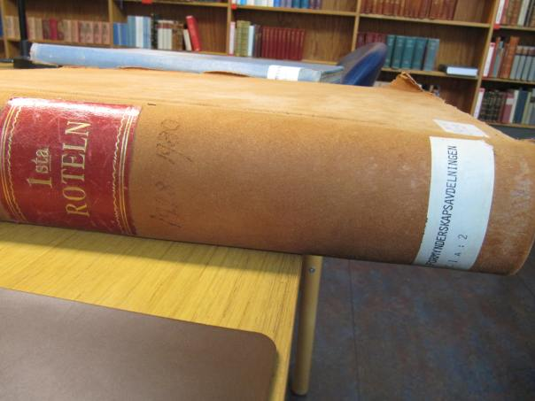 Förmynderskapsbok 1926-1928 Rotel I