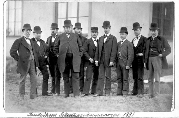 Sandvikens tjänstemannacorps 1881 Källa: lv.wikipedia.org