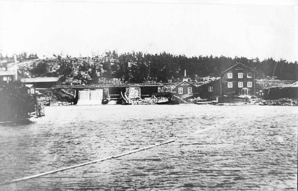 Dammen byggd på 1850-talet