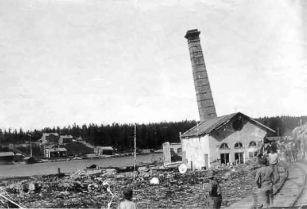 Husums ångsåg efter branden 1909